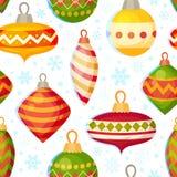 Nettes Weihnachtsnahtloses Muster Stockbilder