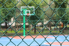 Netting. The netting is around the basketball court Royalty Free Stock Photo