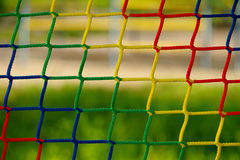 Of netting. Blue, yellow, green, red of netting stock photo