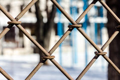 Netting with blurry background Royalty Free Stock Photo