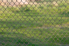 Netting fence. Metal netting fence is outdoors Royalty Free Stock Photos