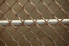 Netting. The net aboard an old vessel Royalty Free Stock Photography