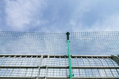 Netting. The netting is a protective equipment in the sides of the road Royalty Free Stock Photography