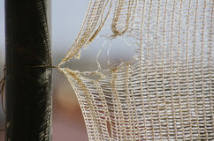 Netting, with a weak,. Broken string Royalty Free Stock Images