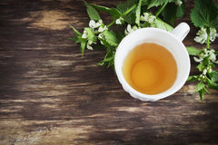 Nettle τσάι στοκ εικόνα με δικαίωμα ελεύθερης χρήσης