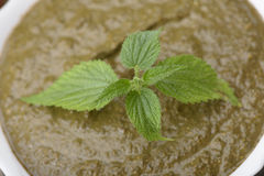 Nettle cream soup Royalty Free Stock Photography