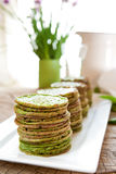 Nettle pancakes. Traditional Scandinavian stinging nettle or spinach pancakes Stock Images