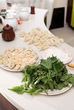 Nettle ravioli Stock Photography
