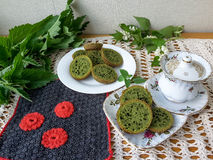 Nettles green cookies Stock Images