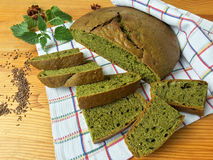 Free Nettles Green Round Bread, Weed Dough Royalty Free Stock Photos - 73324358
