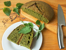 Free Nettles Green Round Bread, Weed Dough Stock Images - 73324444