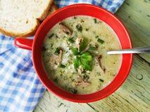 Nettles soup Stock Image