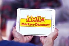 Netto armazena o logotipo Imagens de Stock
