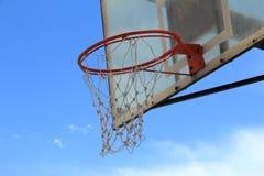 Netto basketbal. royalty-vrije stock afbeeldingen