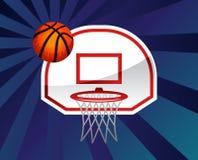 Netto basketbal Royalty-vrije Stock Foto