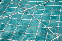 Netto boven de oceaan royalty-vrije stock foto's