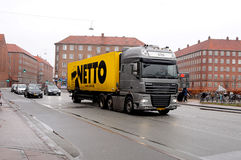 NETTO DELIVERY TRUCK Royalty Free Stock Photography
