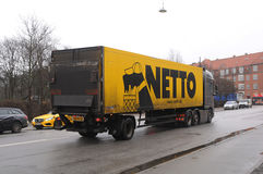 NETTO DELIVERY TRUCK Royalty Free Stock Images