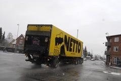 NETTO dostawy ciężarówka Obrazy Royalty Free