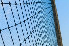 Netto en blauwe hemel, textuur van netto Royalty-vrije Stock Afbeelding