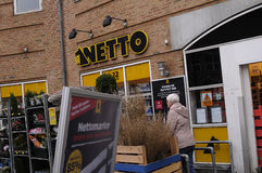 NETTO FOOD CHAIN MARKET Stock Images