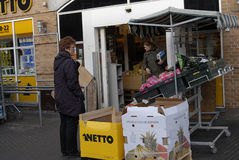NETTO FOOD MARKET Royalty Free Stock Image
