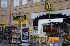 NETTO FOOD STORE Royalty Free Stock Photos