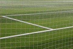 Netto fotboll och fält Arkivbilder
