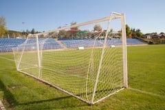 Netto fotbollmålfotboll royaltyfri bild