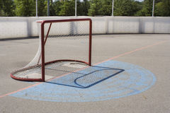 Netto het Hockey van de rol Stock Afbeeldingen