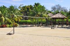 Netto het volleyball van het strand Stock Foto's