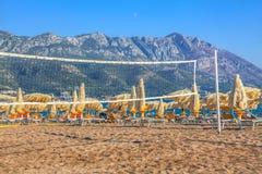 Netto het volleyball van het strand royalty-vrije stock foto
