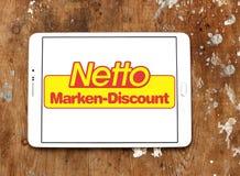 Netto immagazzina il logo Fotografia Stock Libera da Diritti