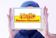 Netto immagazzina il logo Fotografie Stock