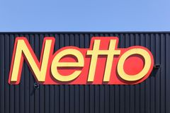Netto logo on a facade Stock Image