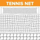 Netto modellvektor för tennis Volleybolltextur Domstolen förtjänar isolerat Horisontalsömlöst Repfälla Konkurrenslek vektor illustrationer
