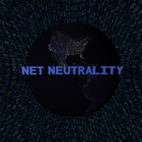 Netto Neutraliteitstekst met aarde 's nachts en de blauwe illustratie van de hexuitdraaicode Royalty-vrije Stock Fotografie