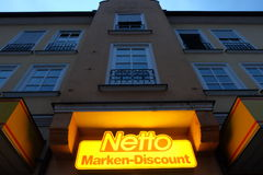 Netto at night Stock Photography