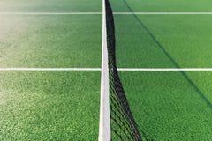 Netto op groene tennisbaan Royalty-vrije Stock Afbeeldingen