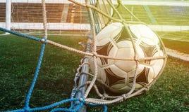 netto piłki piłka nożna Obraz Stock