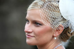 netto portreta przesłony ślub Zdjęcia Royalty Free