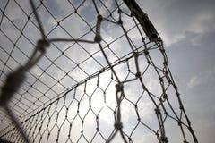 netto s fotboll för mål royaltyfri foto