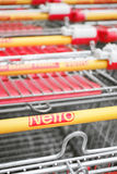 Netto shopping carts Royalty Free Stock Photography
