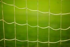 Netto slut för fotbollmål upp royaltyfria bilder