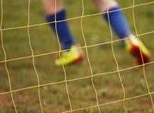 netto spelarefotboll för abstrakt blur Royaltyfri Fotografi