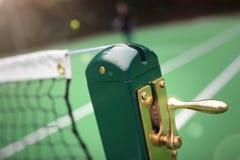 netto surface tennis för domstoljord Royaltyfria Bilder