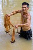 netto thailand för fiskare kast arkivfoton