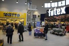 NETTO UND FOTEX-LEBENSMITTEL-MARKT Stockbilder