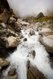 Netto vattenfall för berg, bakgrund Royaltyfria Bilder