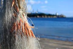 Netto visserij royalty-vrije stock foto's